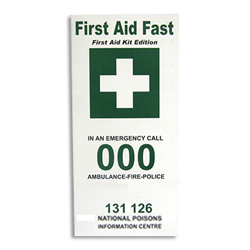 First Aid Instructions Leaflet