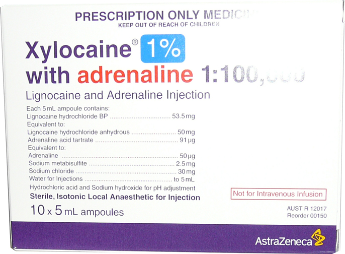 Xylocaine 1% with Adrenaline 5ml