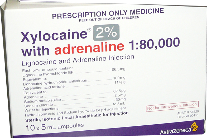 xylocaine with adrenaline 2