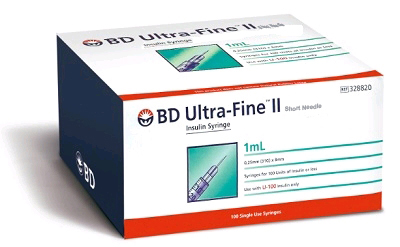 BD Ultra-Fine II 1ml 0.25mm (31g) x 8mm