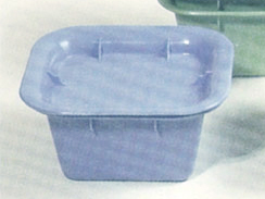 Denture Container with Lid 130 x 123 x 65mm