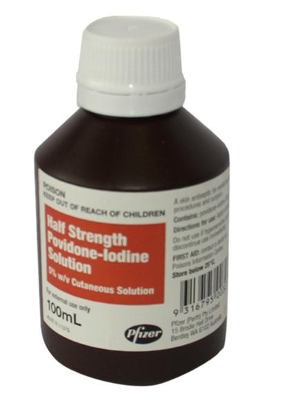 Povidone-Iodine Half Strength 5% 100ml