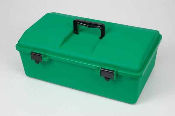 First Aid Box Large Green Plastic
