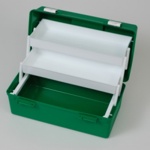 FA Box Large Green Plastic 2 Cantilevered
