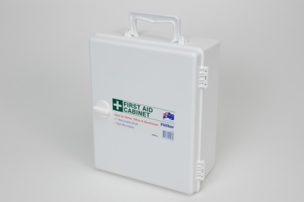 First Aid Cabinet Medium White Plastic