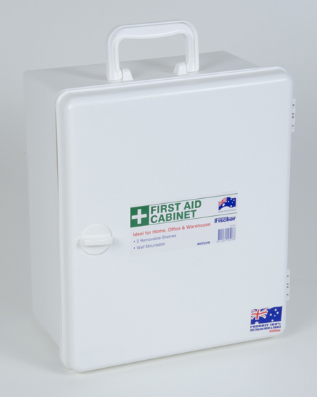 First Aid Cabinet Large White Plastic