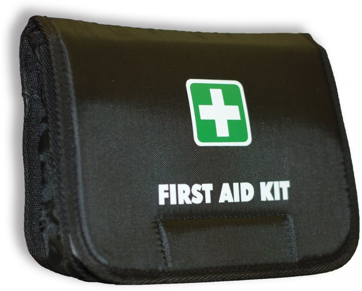 First Aid Bag Black Fold-Over