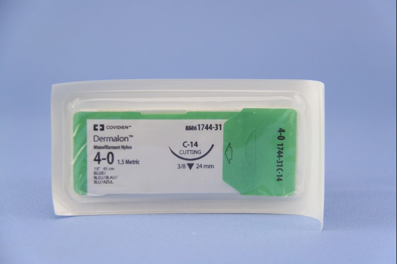 Sutures 4/0 Dermalon 24mm
